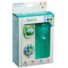 Adventures Of A Yorkshire Mum: Dr Brown's Natural Flow Green Bottle and Soother Set Giveaway Dr Browns, Pediatric Dentist, Orthodontics, Baby Bottles, Dental, Giveaway, Office Supplies, Canning, Gifts