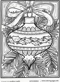 Print Christmas Ornament For Coloring Pages