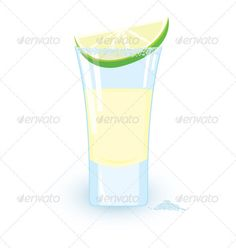 Tequila cocktail slice