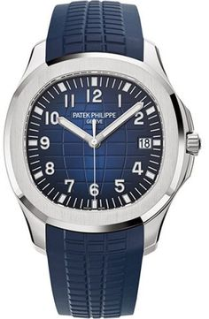 Patek Philippe Aquanaut 5168G-001 18K White Gold / Composite with Blue Dial Automatic 42.2mm Mens Watch