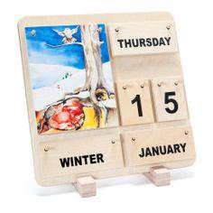wooden calendar for