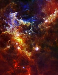 Star Formation in the Rosette Nebula This image of NGC 2244 from the Herschel Space Observatory shows newly-formed stars shrouded in clouds of dust and gas. Paris Saclay, Carl Sagan Cosmos, Spire, Star Formation, Space And Astronomy, Hubble Space, Space Telescope, Space Shuttle, Galaxy Space