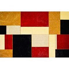 Tapete Marbella Boreal Retângulos Veludo 98x150cm - Rayza