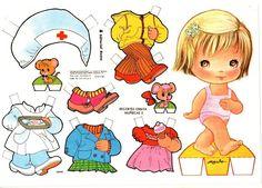 bamboline di cartone