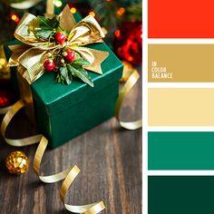 Bonita paleta de colores navideños