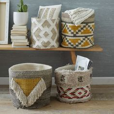 Are you planning to incorporate aztec baby bedding in your tribal nursery? Aztec nursery decor is oh-so-hot right now! Design a tribal nursery to give your baby's room a southwestern feel! Home Decor Accessories, Decorative Accessories, Basket Weaving, Hand Weaving, Woven Baskets, Picnic Baskets, Decorative Baskets, Wicker Baskets, Aztec Nursery