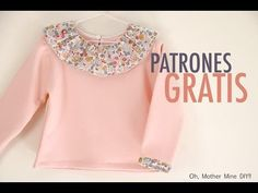 FREE shirt pattern (in Spanish) Sewing Patterns Girls, Sewing For Kids, Baby Sewing, Free Sewing, Baby Girl Shirts, Shirts For Girls, Girls Shirt Pattern, Little Dresses, Girls Dresses