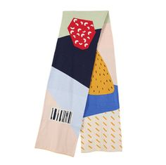 Neverland collection supermarket barcode floral scarf