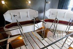 Coffin Room at Propeller Island City Lodge in Berlin.