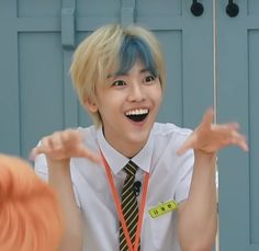 ) Above or beyond the human or demanding more than human power or endurance. in k-pop in science scifi sci-fi nctdream [ Meme Faces, Funny Faces, Ntc Dream, Nct Dream Jaemin, All Meme, Drama Memes, Funny Kpop Memes, Na Jaemin, Boyfriend Goals