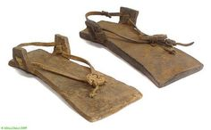 Dogon leather sandals old and Worn Mali, Africa