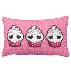 Shop Pink Skull Cupcake Lumbar Pillow created by YamPuff. Skull Cupcakes, Lumbar Pillow, Throw Pillows, Skull Pillow, Goth Home Decor, Pink Skull, Custom Pillows, Own Home, Darkness