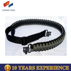 paracord weaving military gun sling portable sling with metal swivels