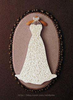웨딩드레스 :: 네이버 블로그. Quilling  Wedding  Dress
