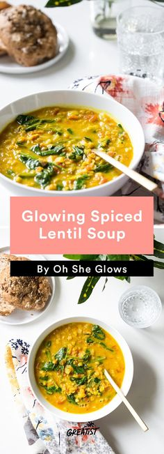 3. Glowing Spiced Lentil Soup #vegan #bowl #recipes http://greatist.com/eat/vegan-bowl-recipes-we-cant-get-enough-of