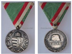 Austria Hungary WW1 Medal 1914 1918 Pro DEO et PATRIA Austrian Hungarian Commemorative WWi Military KuK Horthy Combatants Great War Medal Honor, Erwin Rommel, Field Marshal, Free Sign, Wwi, Hungary, Awards, Military, Badges