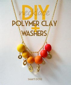 DIY Jewelry DIY Necklace DIY Necklace Polymer Clay with Washers