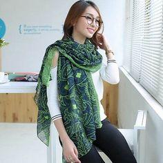 Brand designer Fashion Simple lady winter warm Chiffon Voile scarf shawl for women