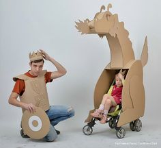 DIY Cardboard Dragon & Knight by Cardboard Dad