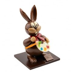Artisan Chocolatier, Amazing Chocolate Cake Recipe, Easter Eggs, Cake Recipes, Sculptures, Christmas Ornaments, Holiday Decor, Eggs, White Chocolate