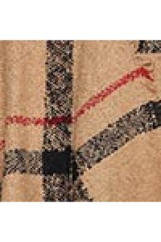 c37471ed8e Plaid Poncho Sweater in Taupe