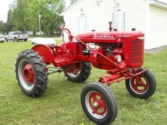 1954 farmall cub tractor with belly blade tractors and