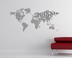 Typography world map Typography, English, Map, Quotes, Home Decor, Letterpress, Quotations, Decoration Home, Letterpress Printing