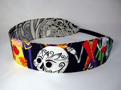 Reversible Headband  Day of the Dead by SWStitchery on Etsy, $8.00