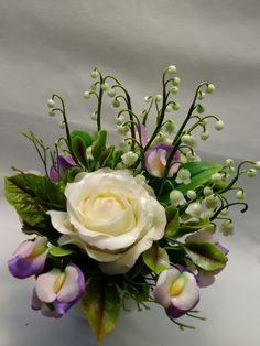 Cold Porcelain, by Natasha Waldron Cold Porcelain, Floral Wreath, Wreaths, Plants, Decor, Floral Crown, Decoration, Door Wreaths, Deco Mesh Wreaths