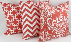 CORAL Pillow covers by DeliciousPillows, $20.00