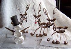 Paper Quilled Snowman, Reindeer by ~UrSoMaC on deviantART