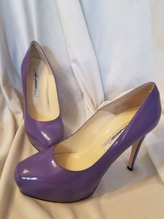 Brian Atwood shoes 37.5 EUR 7.5 US Maniac purple patent leather platform pumps | Clothing, Shoes & Accessories, Women's Shoes, Heels | eBay! SOLD #brianatwoodheelspatentleather