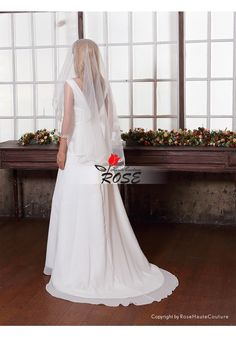 Wedding Veil Bridal Veil One-layer No Comb Style BV034 - Wedding Veil