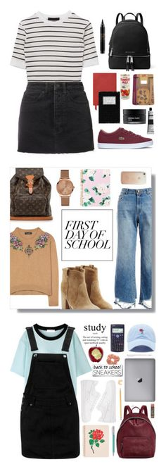 """""""Winners for Campus Chic: First Day of School"""" by polyvore ❤ liked on Polyvore featuring Ksubi, Lacoste, MICHAEL Michael Kors, Smythson, MAC Cosmetics, Koh Gen Do, Aesop, Laurence Dacade, DL1961 Premium Denim and Louis Vuitton"""
