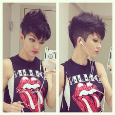 Such a cool way to style a pixie cut