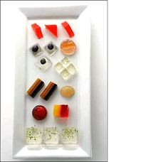 I'm not sure if this is really a dessert, but it's a treat to all those who like a challenge. Gourmet gelatin shots!