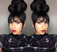 Bangs Hairstyles Sew In,braided hairstyles bun ideas.Natural Bun Hairstyles,wedding hairstyles suelto,pony tail hairstyles and black women hairstyles fall ideas. My Hairstyle, Hairstyles With Bangs, Pretty Hairstyles, Braided Hairstyles, Black Hairstyles, Woman Hairstyles, African American Updo Hairstyles, African American Braids, Wave Hairstyles