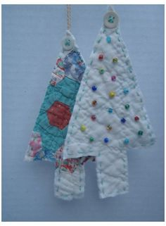 Quilted Christmas Ornaments, Fabric Ornaments, Christmas Sewing, Christmas Love, Vintage Christmas, Rustic Christmas, Christmas Projects, Holiday Crafts, Navidad Diy