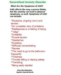 Generalized Anxiety Disorder....It took a long time until I realized that my ability to be easily startled was a GAD thing...
