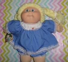 Cabbage Patch Kids Original 1985 Tsukuda japane Chica Amarillo Limón Trenzas hoyuelo