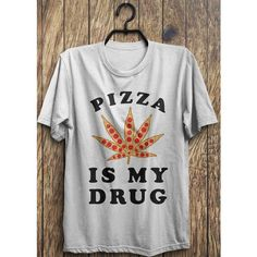 Pizza shirt, Pizza top, funny pizza t shirt, pizza drug shirts, Funny... ($14) via Polyvore featuring tops, t-shirts, t shirt, christmas shirts, christmas tops, tee-shirt and christmas tee