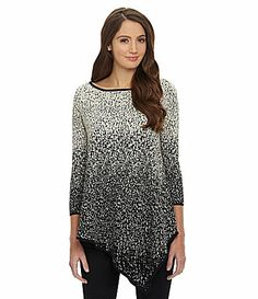 Chelsea and Theodore Ombre Tunic Sweater #Dillards