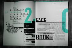Editorial redes sociales by Margarita Cubino, via Behance