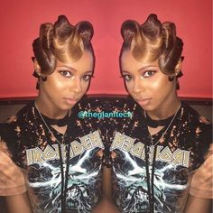 Waves without cutting the hair. Quick Weave Hairstyles, Pretty Hairstyles, Vintage Hairstyles, Relaxed Hairstyles, Unique Hairstyles, Hairstyle Ideas, Medium Hair Styles, Curly Hair Styles, Natural Hair Styles