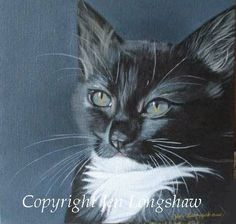 """Kitteh"" by New Zealand artist/writer Jen Longshaw http://jenlongshaw.blogspot.com"