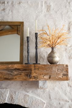 Add elegance, texture, and shine to your space with our Kelley Glass Vase. Available in three sizes and shapes, these glass vases feature a distressed, slightly metallic finish that provide movement and luster. Magnolia Market Waco, Magnolia Homes, Home Fireplace, Fireplace Design, Fireplaces, Fireplace Ideas, Living Room Inspiration, Autumn Home, Home Accents