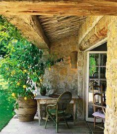 Can I just move to Provence? Terrace in provence Outdoor Rooms, Outdoor Gardens, Outdoor Living, Outdoor Decor, Outdoor Office, Pergola, Deco Champetre, French Country Style, Country Life