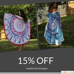 Inspired decor and fashion for the colourful at heart by KateStClaireLivingCo Tie Dye Skirt, Must Haves, Etsy Seller, Campaign, Towel, Cushions, Etsy Shop, Colour, Marketing