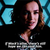 If Mack's alive, there's still hope we can save him. || Jemma Simmons || AOS 2x10 What We Become || 160px × 160px || #animated #quotes