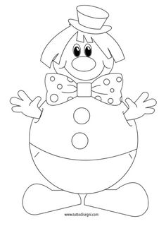 pagliaccio-addobbi-carnevale2 Clown Crafts, Carnival Crafts, Carnival Games For Kids, Easter Colouring, Colouring Pages, Coloring Pages For Kids, Coloring Books, School Decorations, Infant Activities
